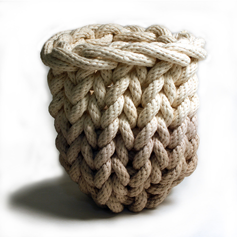 Shop Tanya Aquiniga Small Knit Rope Basket